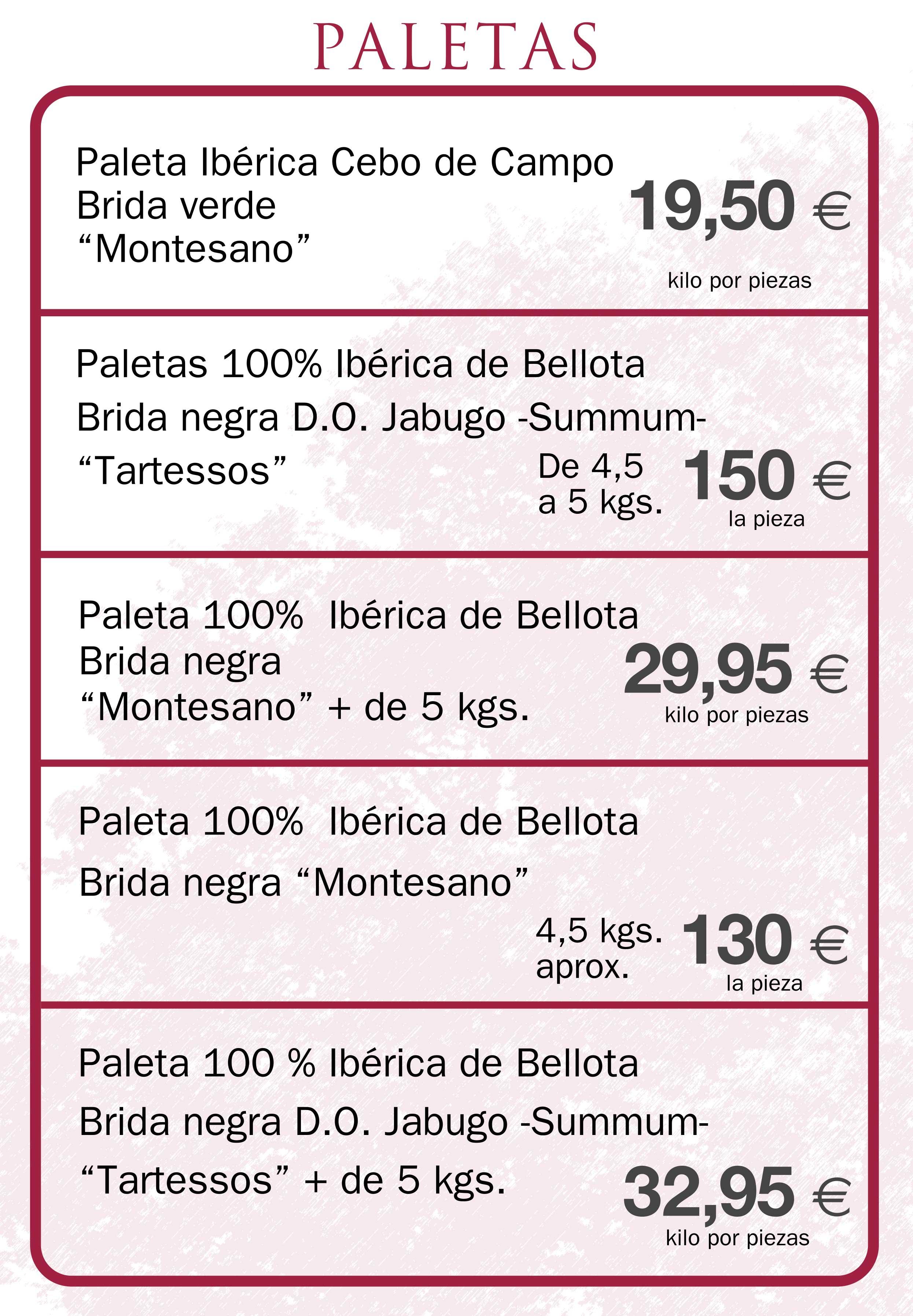 Paletas Ibéricas de bellota en Aracena