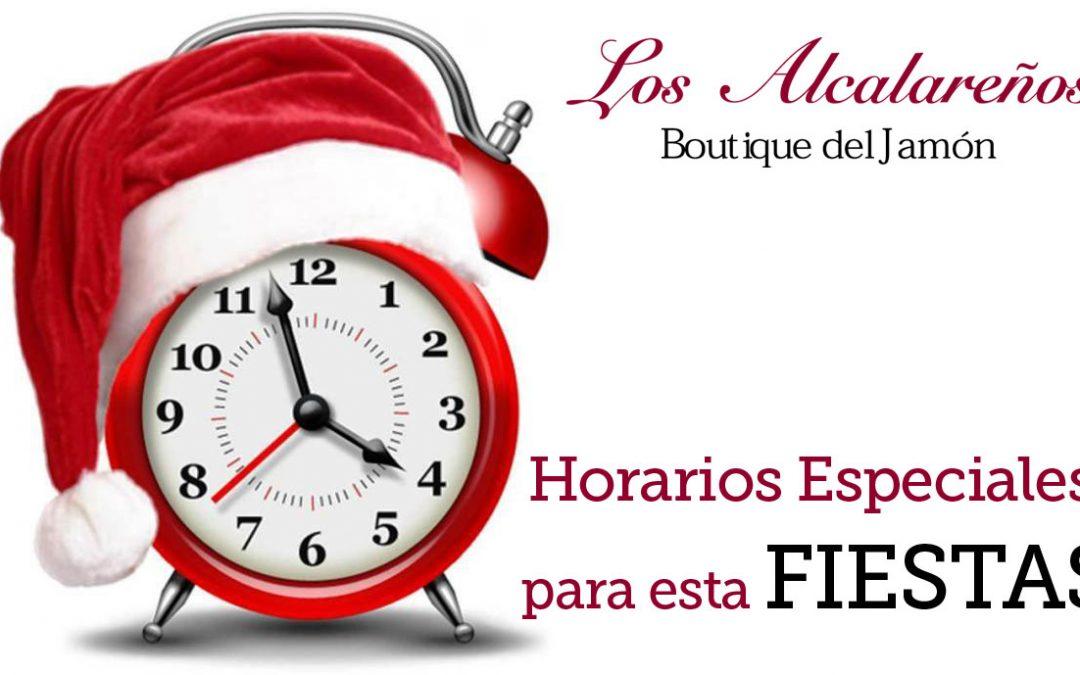 Horarios especiales para estas Fiestas en Los Alcalareños