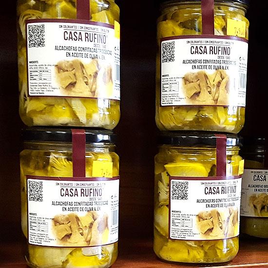 Alcachofas confitadas en Aceite de Oliva de Casa Rufino