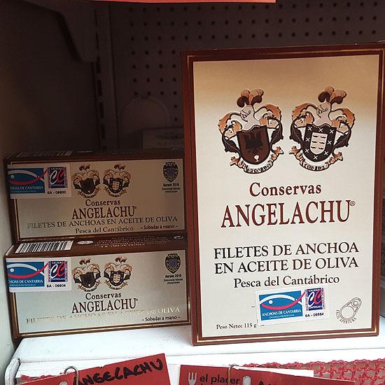 Anchoas de Santoña de Conservas Angelachu