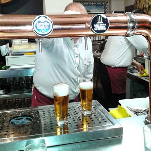 Tirador de Cerveza de Bodega en Bar Los Alcalareños